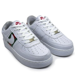 Kit 2 Tênis 1 Nike Air Force Gucci + 1 Nike Dynamic Marinho e Branco